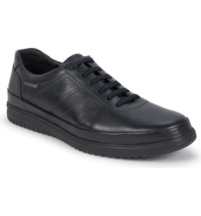 MEPHISTO Tomy Sneaker, Main, color, BLACK LEATHER