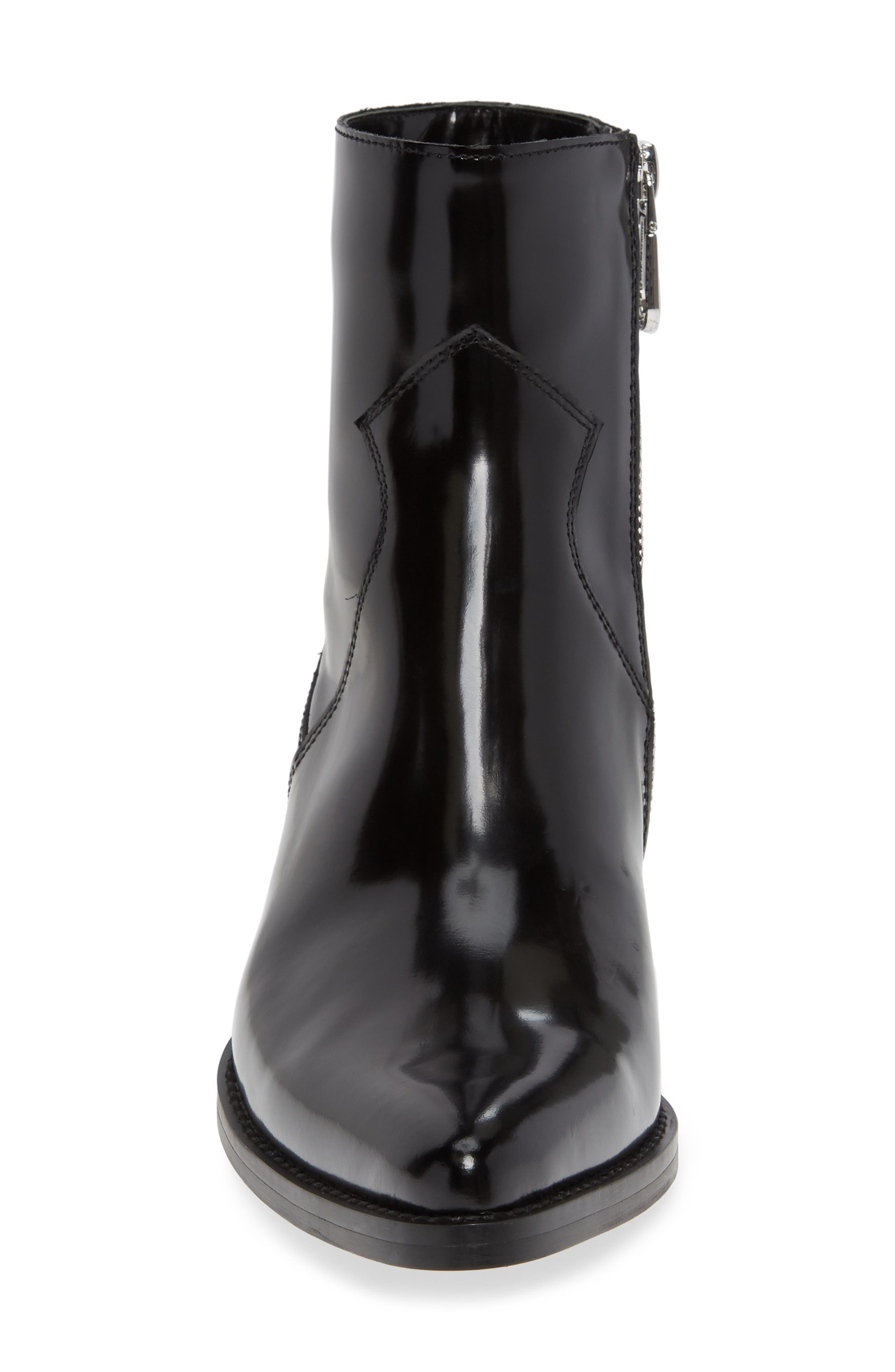 ,                             Calvin Klein Arianna Bootie,                             Alternate thumbnail 4, color,                             BLACK LEATHER