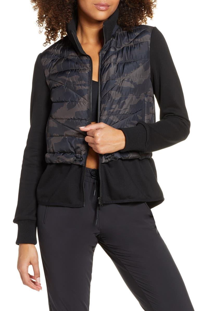 ZELLA Hybrid Jacket, Main, color, BLACK CAMO PRINT