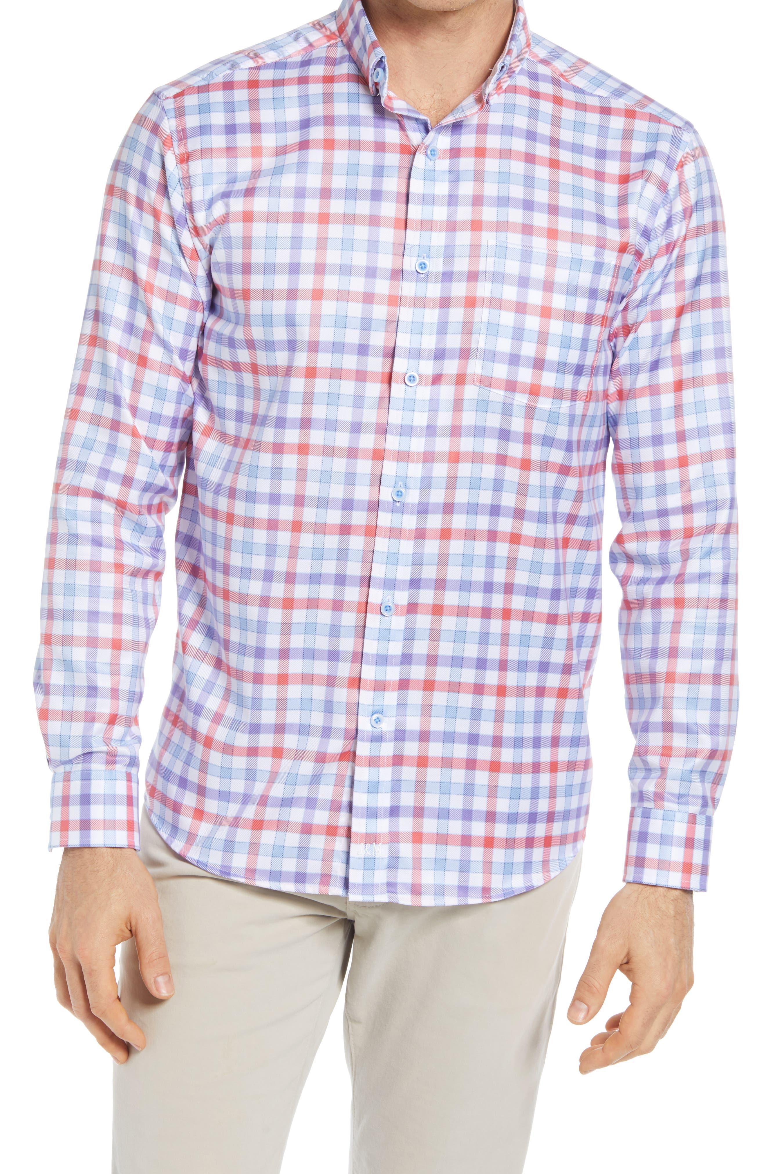 Gingham Button-Up Shirt