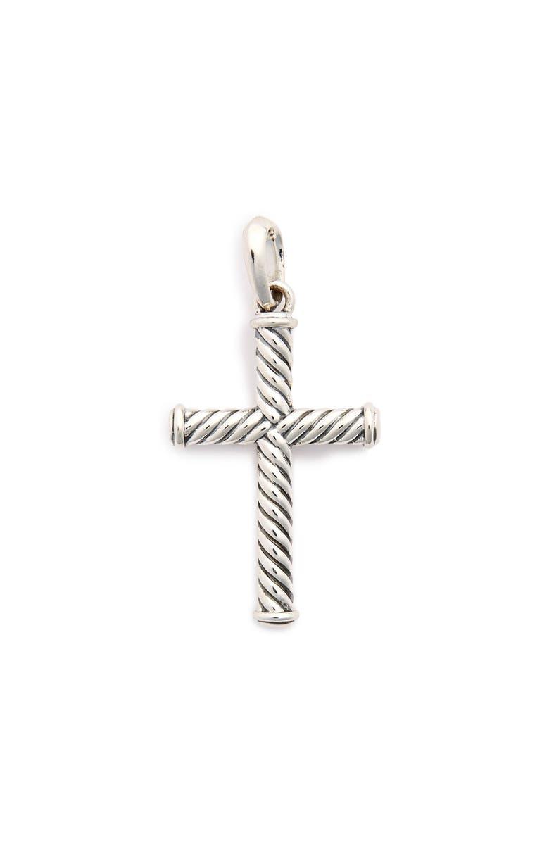 DAVID YURMAN 'Cable Classics' Cross, Main, color, SILVER