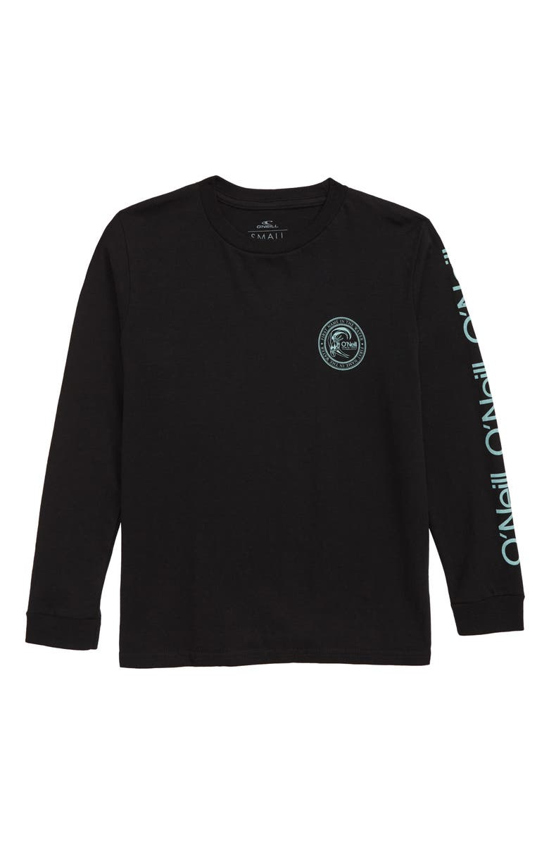 O'NEILL Surfer Seal Long Sleeve Cotton T-Shirt, Main, color, BLACK