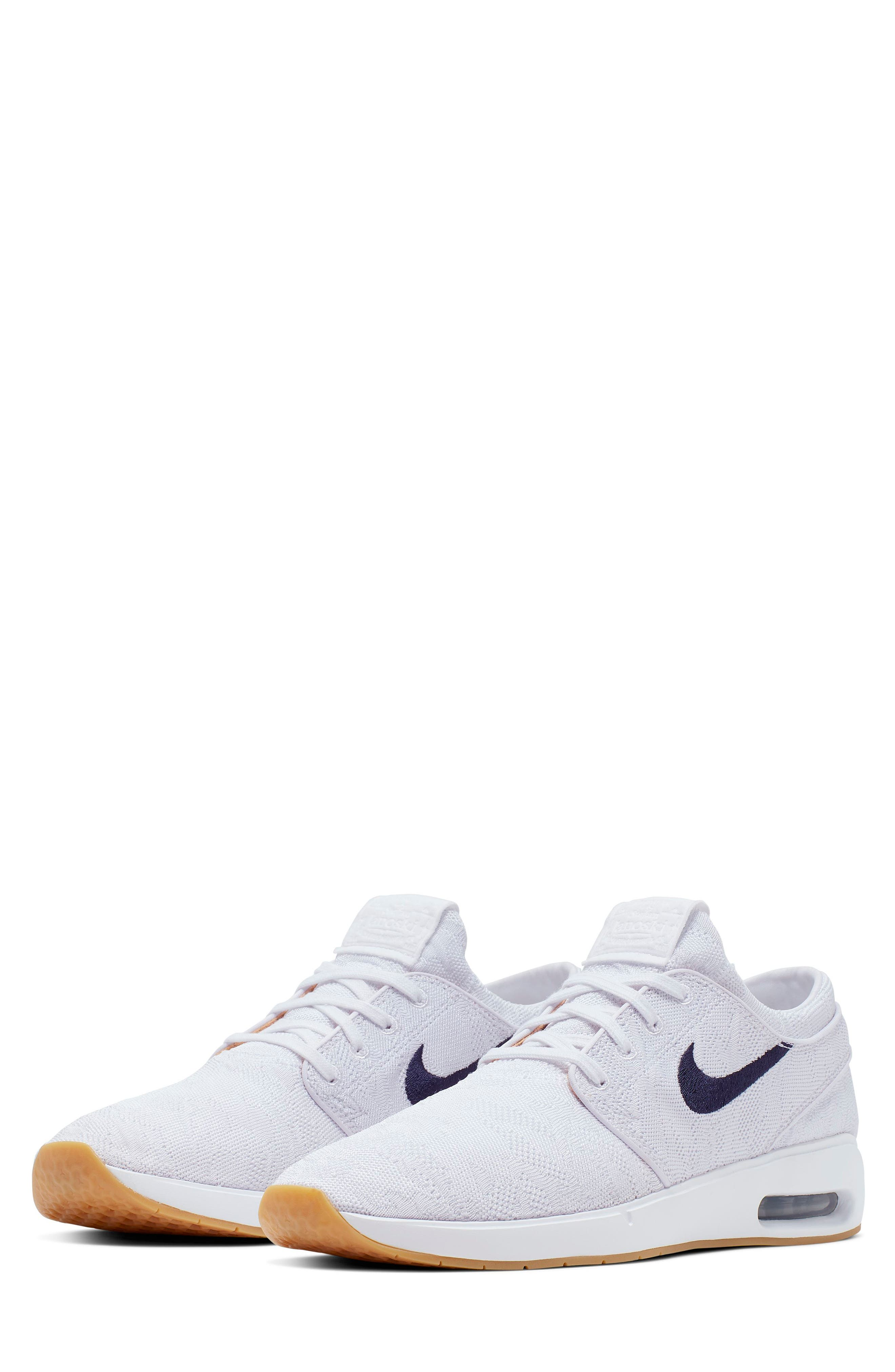 A grippy rubber sole grounds a stylish skate shoe with an air-cushioned sole for comfort. Style Name: Nike Janoski Skate Shoe (Men). Style Number: 5736605. Available in stores.
