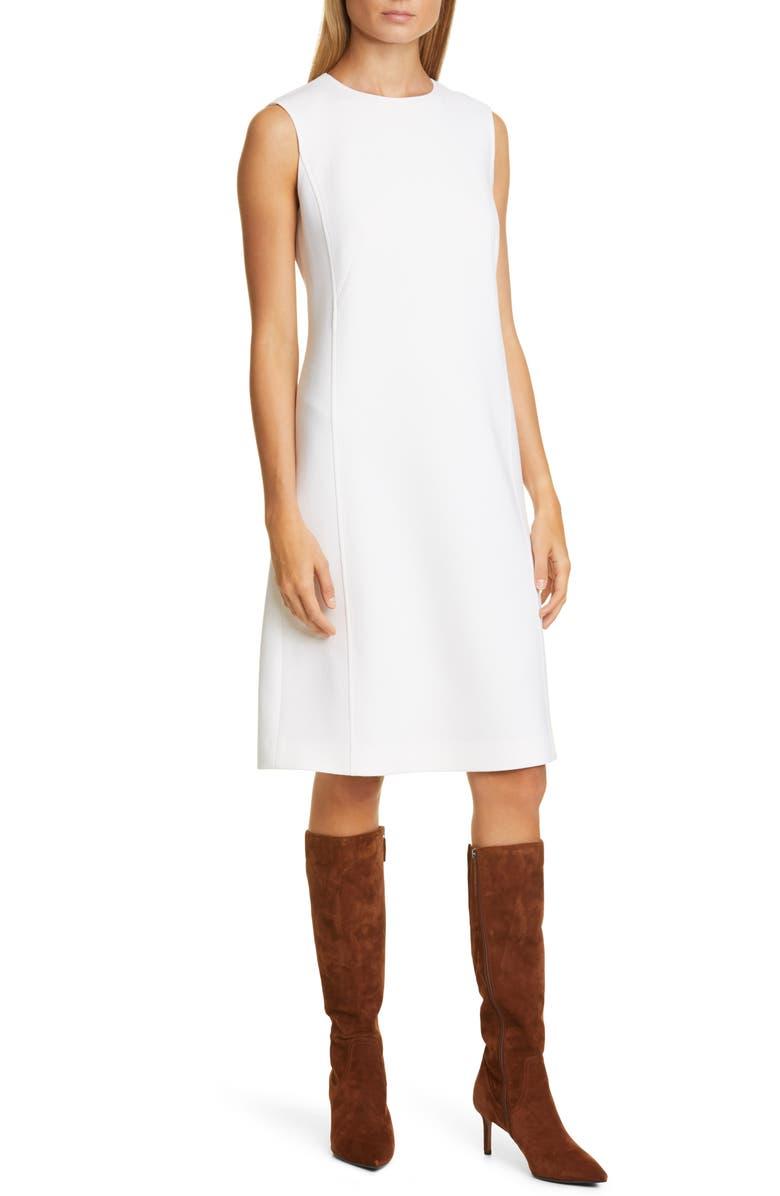 LAFAYETTE 148 NEW YORK Polly Wool Sheath Dress, Main, color, 100