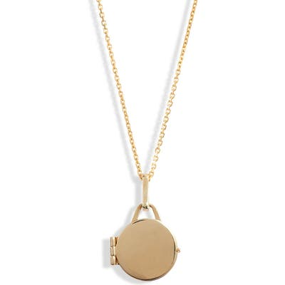 Loren Stewart Mini Locket Mixed Metal Pendant Necklace