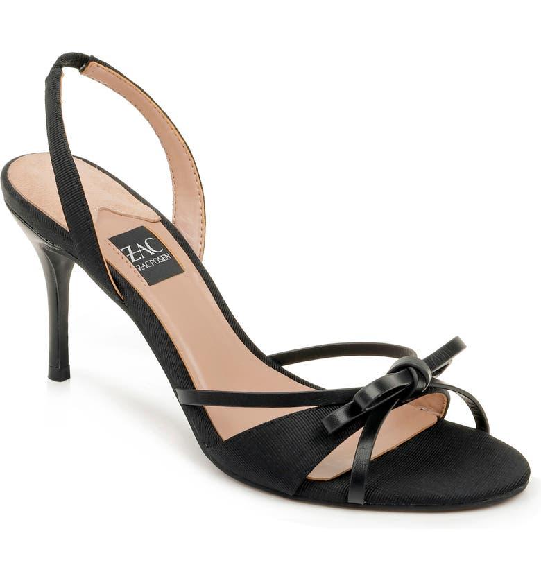 ZAC ZAC POSEN Veronia Sandal, Main, color, BLACK LEATHER
