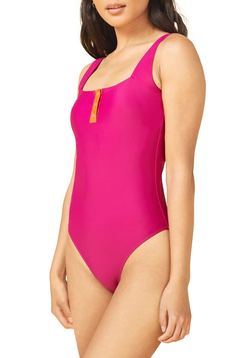 SUMMERSALT The Sailor One-Piece Swimsuit, Main, color, PURPLE