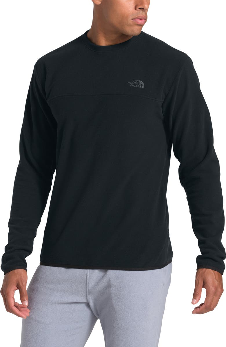 THE NORTH FACE TKA Glacier Recycled Polyester Sweatshirt, Main, color, TNF BLACK/ TNF BLACK