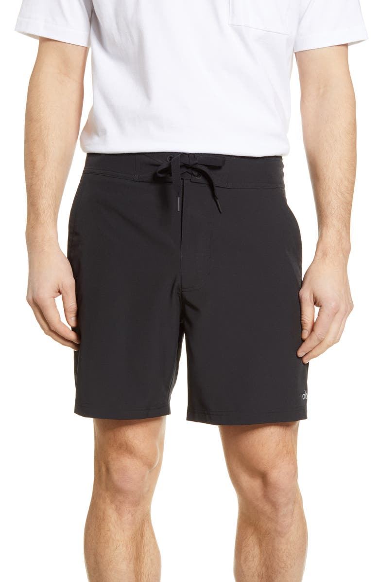 ALO Plow Board Shorts, Main, color, 001