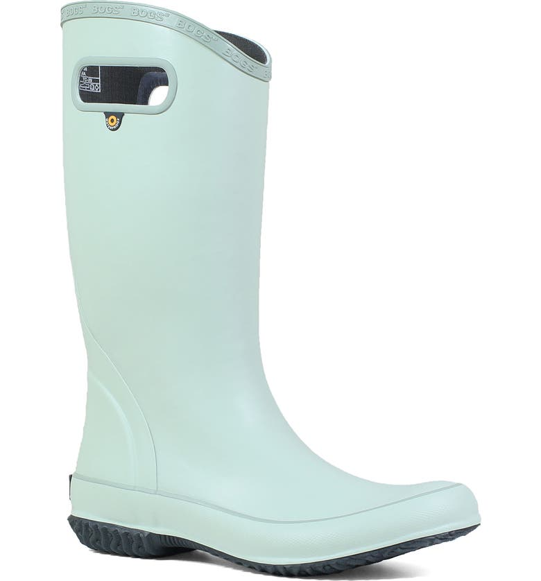 BOGS Classic Tall Waterproof Rain Boot, Main, color, SAGE RUBBER