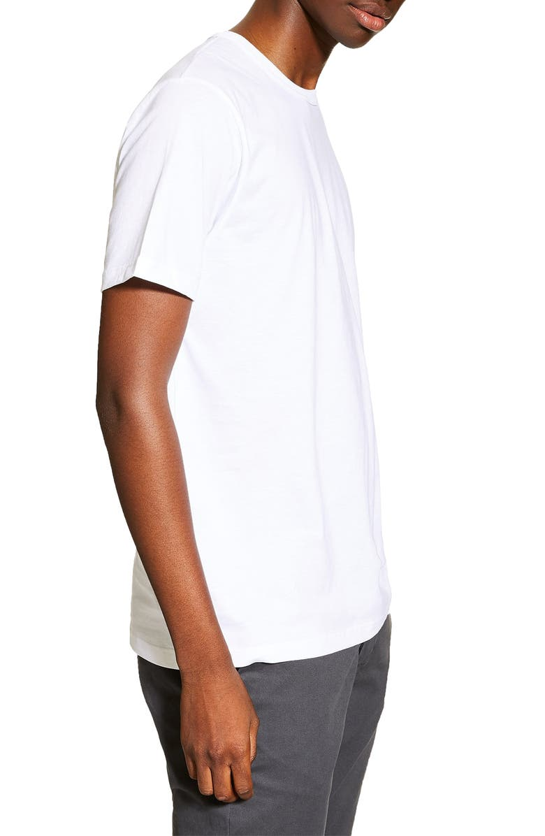 TOPMAN 5-Pack Classic Fit T-Shirts, Main, color, NAVY/WHITE/GREY/OLIVE
