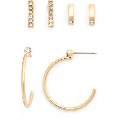 Halogen Set Of 3 Earrings