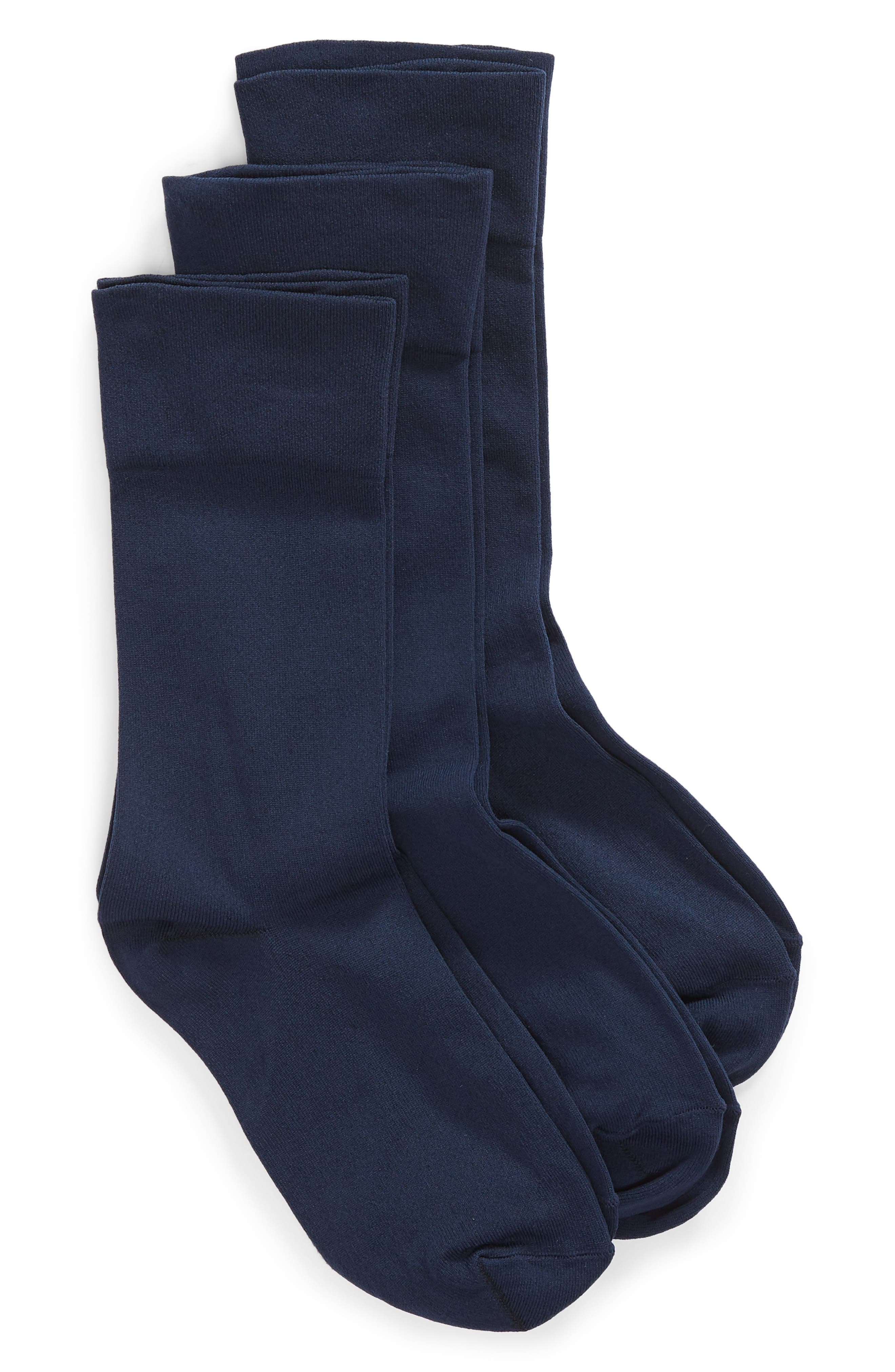With their super-comfy fit and sleek look, you\\\'ll want to make sure you always have a pair and a spare-and another pair-of these stretchy crew socks at the ready. Style Name: Nordstrom Ultra Sleek 3-Pack Crew Socks. Style Number: 5608418 2. Available in stores.