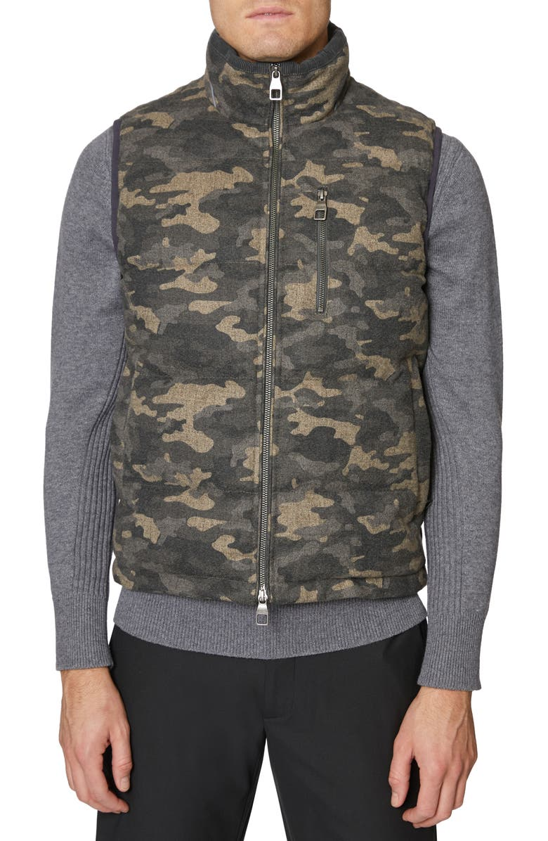 HICKEY FREEMAN Camo Quilted Vest, Main, color, CHARCOAL CAMO