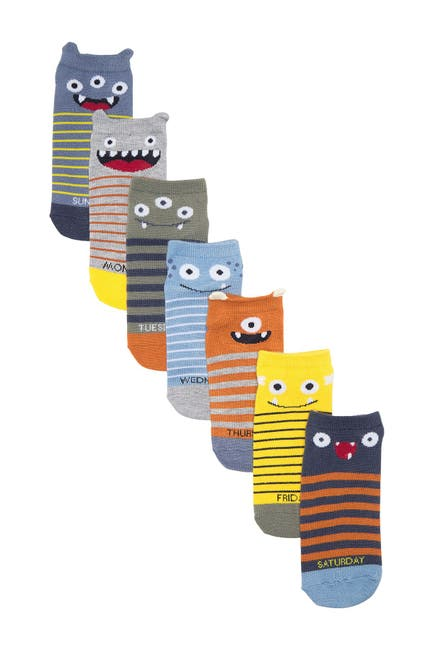 Image of Harper Canyon Monster Days Low Cut Socks - Pack of 7