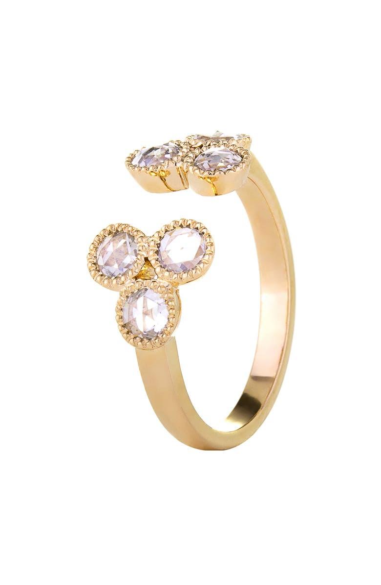 SETHI COUTURE Grace Split Diamond Ring, Main, color, YELLOW GOLD/ DIAMOND