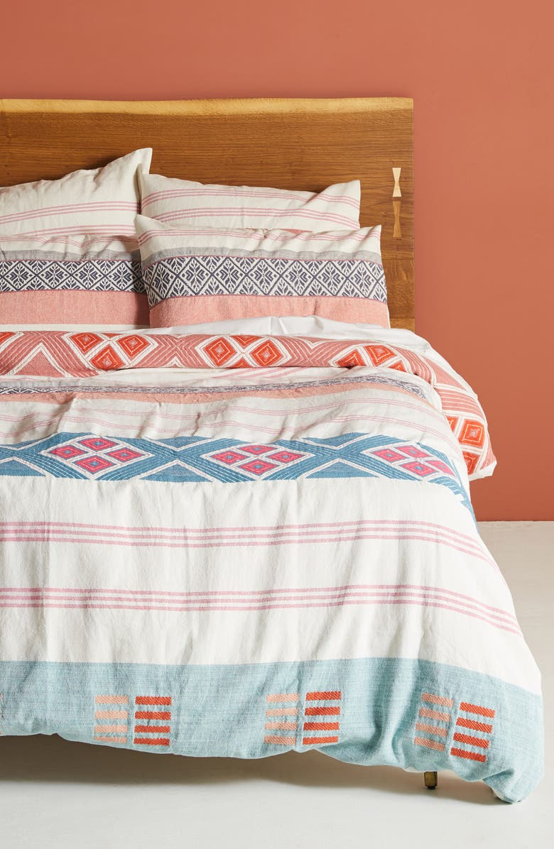 Anthropologie Rosewood Duvet Cover