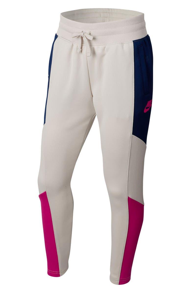 NIKE Sportswear Heritage Sweatpants, Main, color, OREWOOD/ BLUE/ FIRE PINK