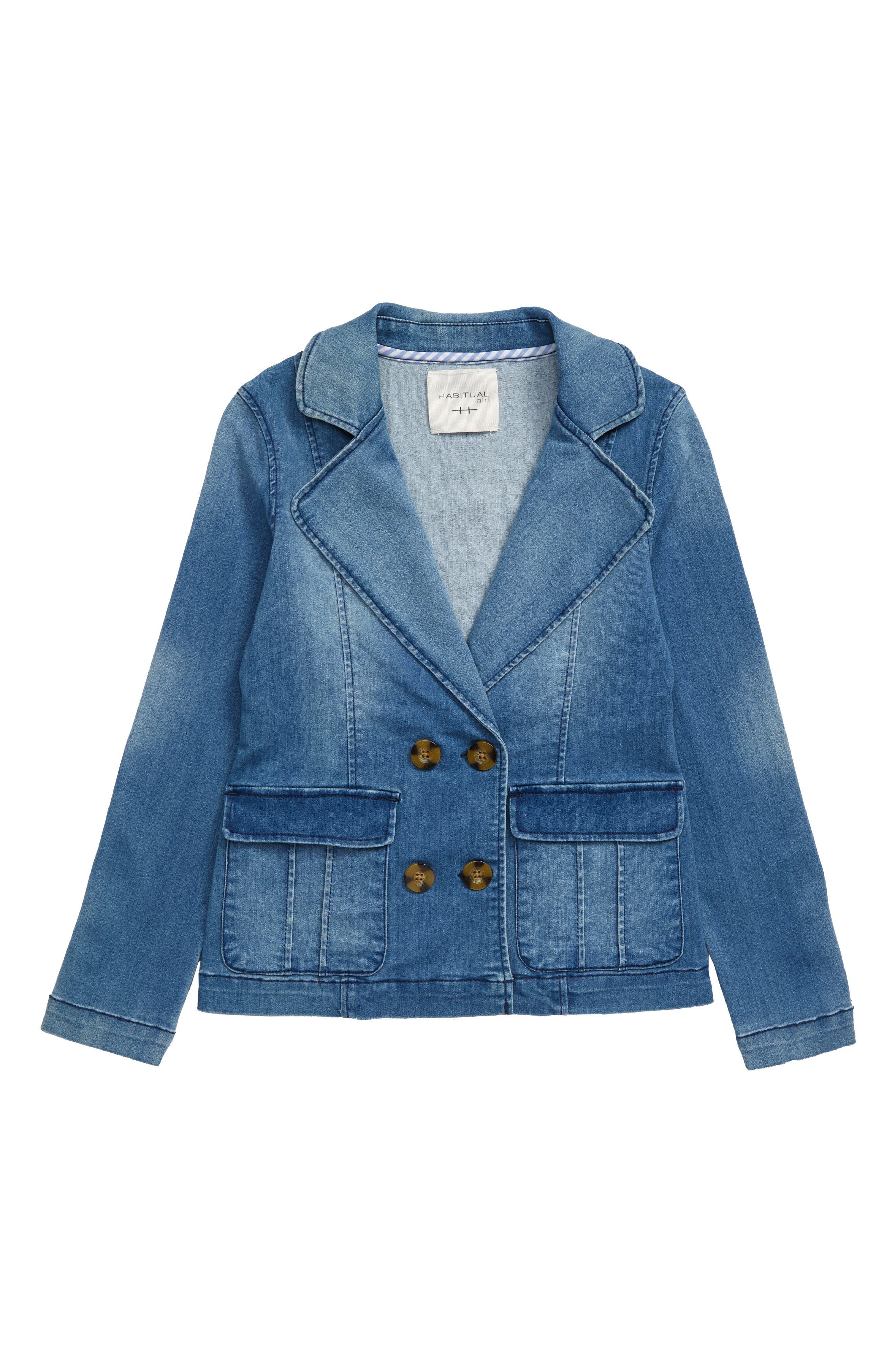 Image of Habitual Kids Stretch Denim Blazer Jacket