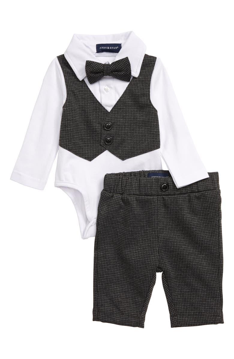 ANDY & EVAN Vest Bodysuit & Pants Set, Main, color, 028