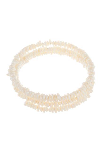 Image of Splendid Pearls 4-6mm Cultured Freshwater Pearl Coil Bracelet