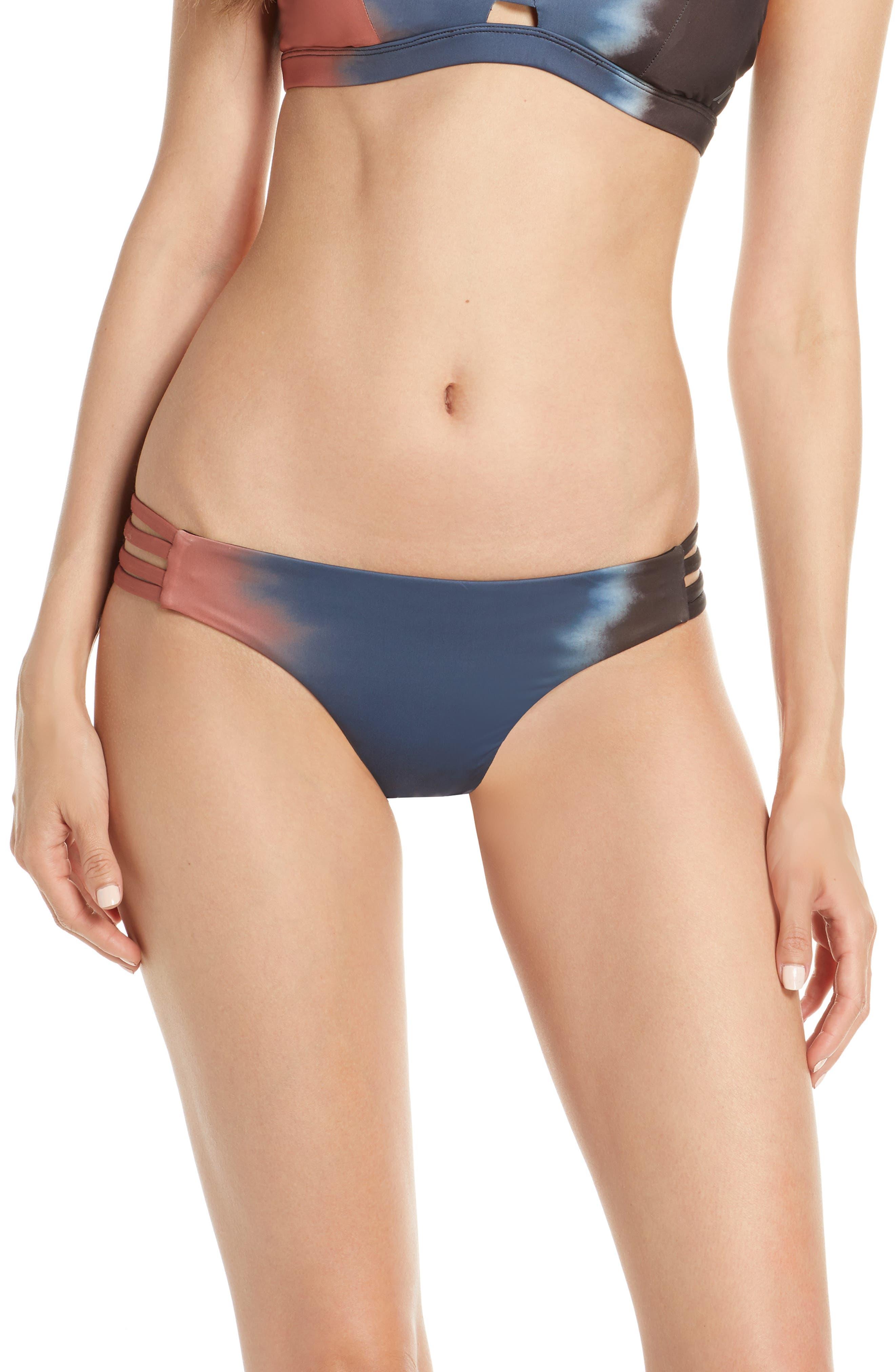 Hurley Quick Dry Max Gradient Bikini Bottoms, Blue