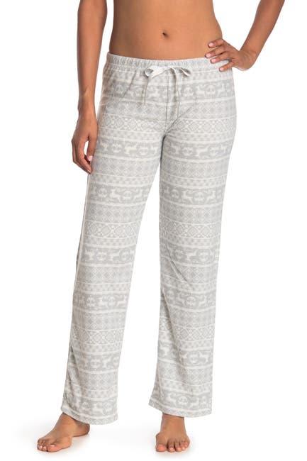 Image of Kathy Ireland Waffle Knit Fleece Fair Isle Pajama Pants