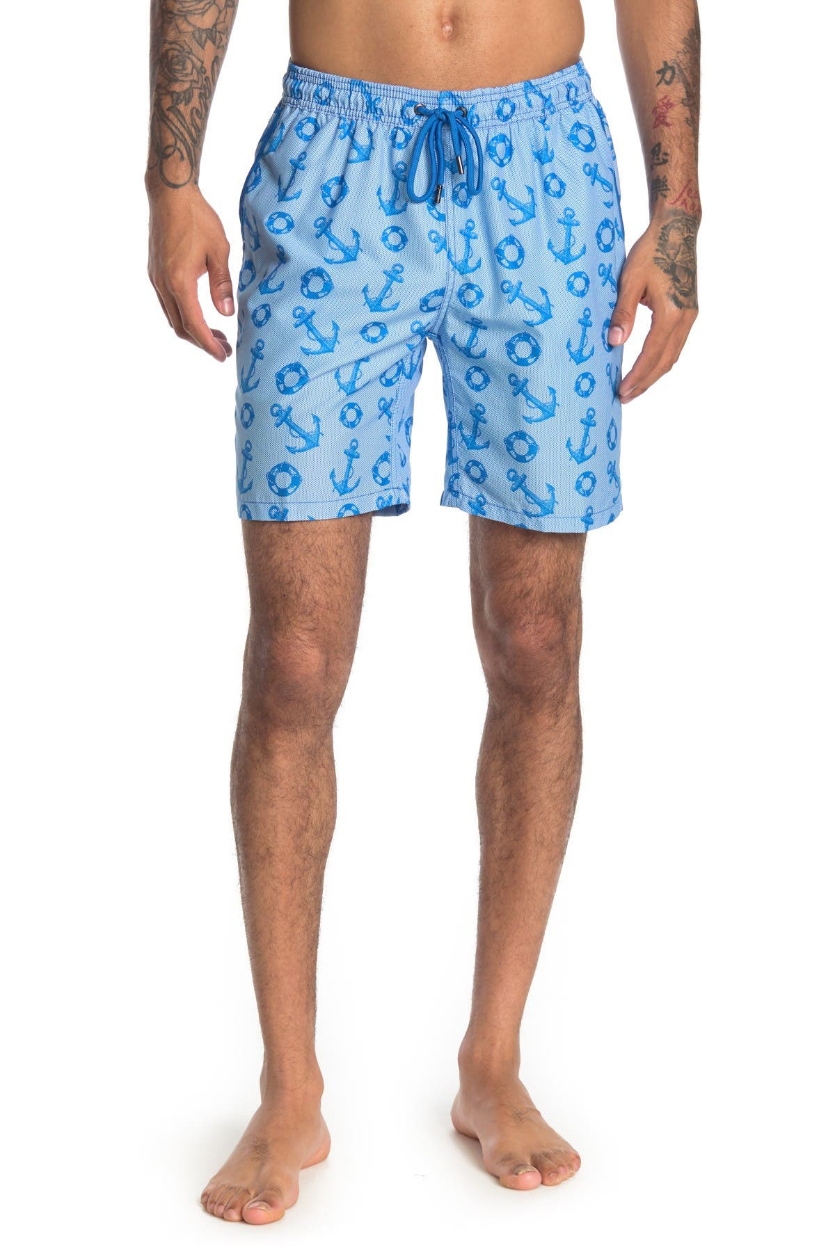 Image of Mr. Swim Anchor Printed Swimming Trunks