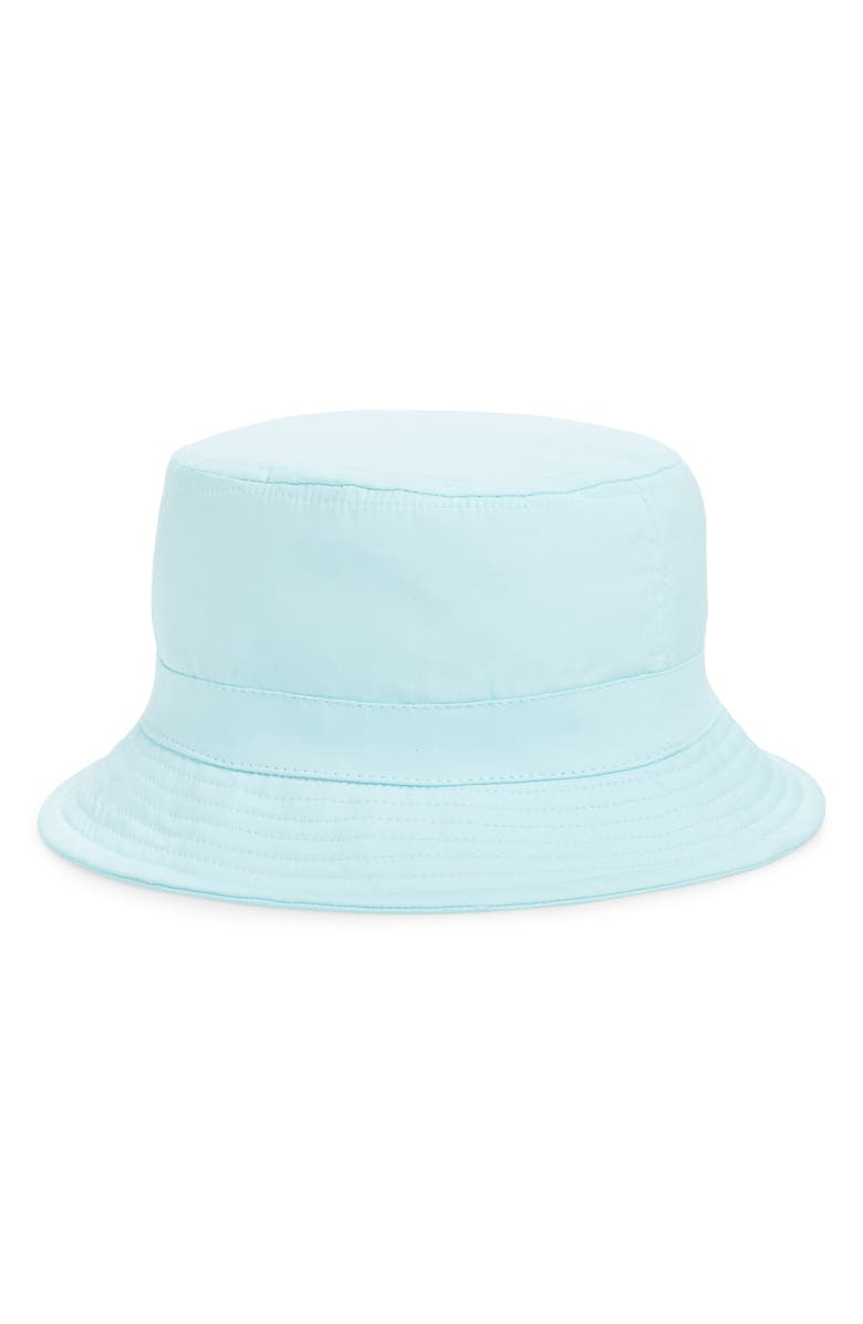 TROUVÉ Tie Dye Bucket Hat, Main, color, TEAL FAIR