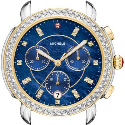 Michele Sidney Chrono Diamond Diamond Dial Watch Case,