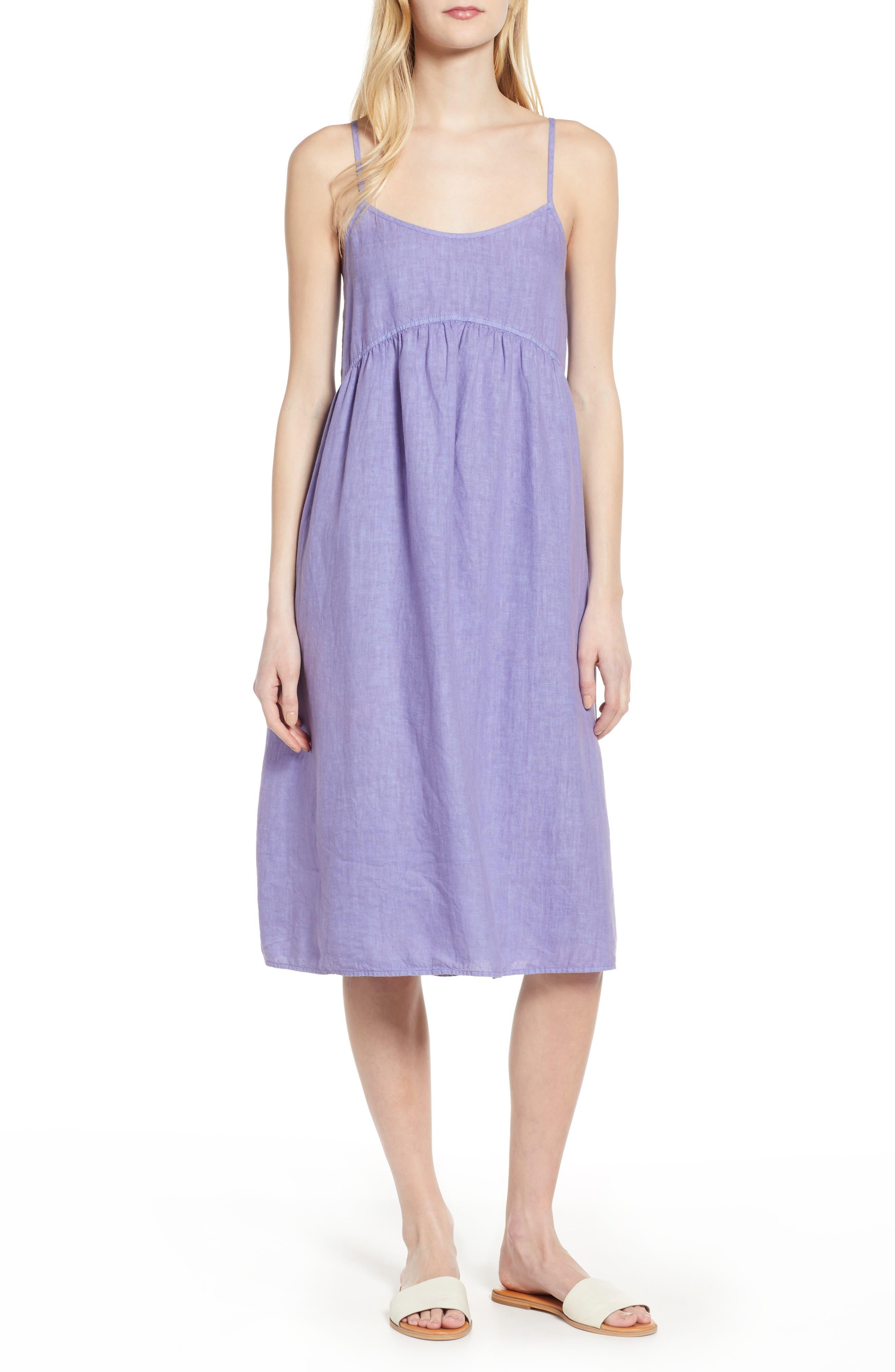 Lou & Grey Linen Midi Dress, Purple