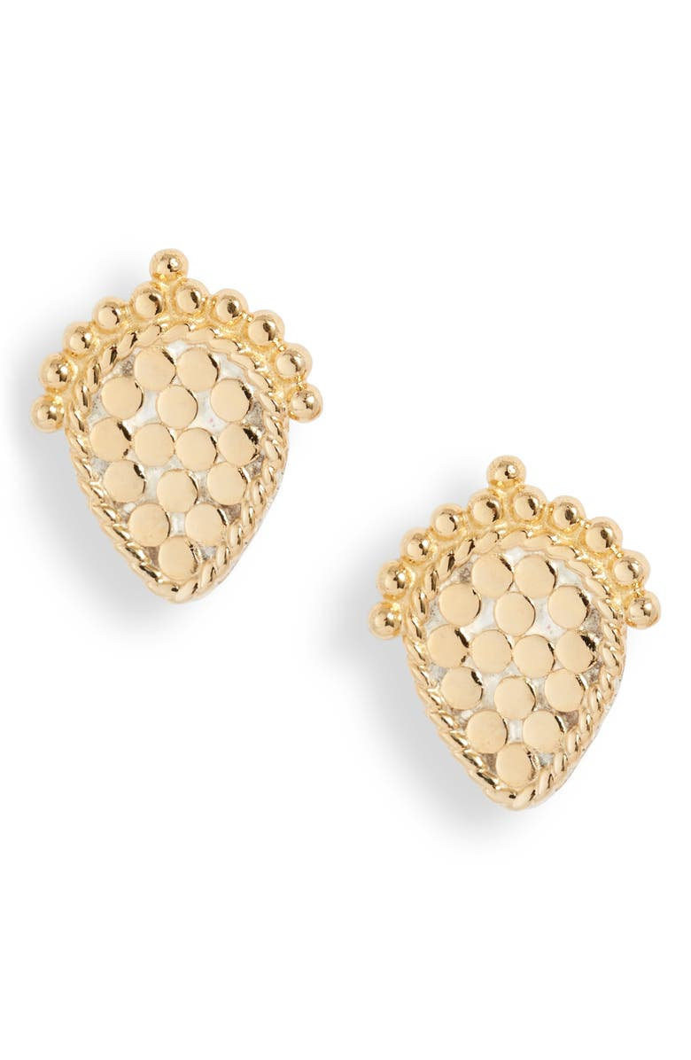 ANNA BECK Scalloped Stud Earrings, Main, color, 710