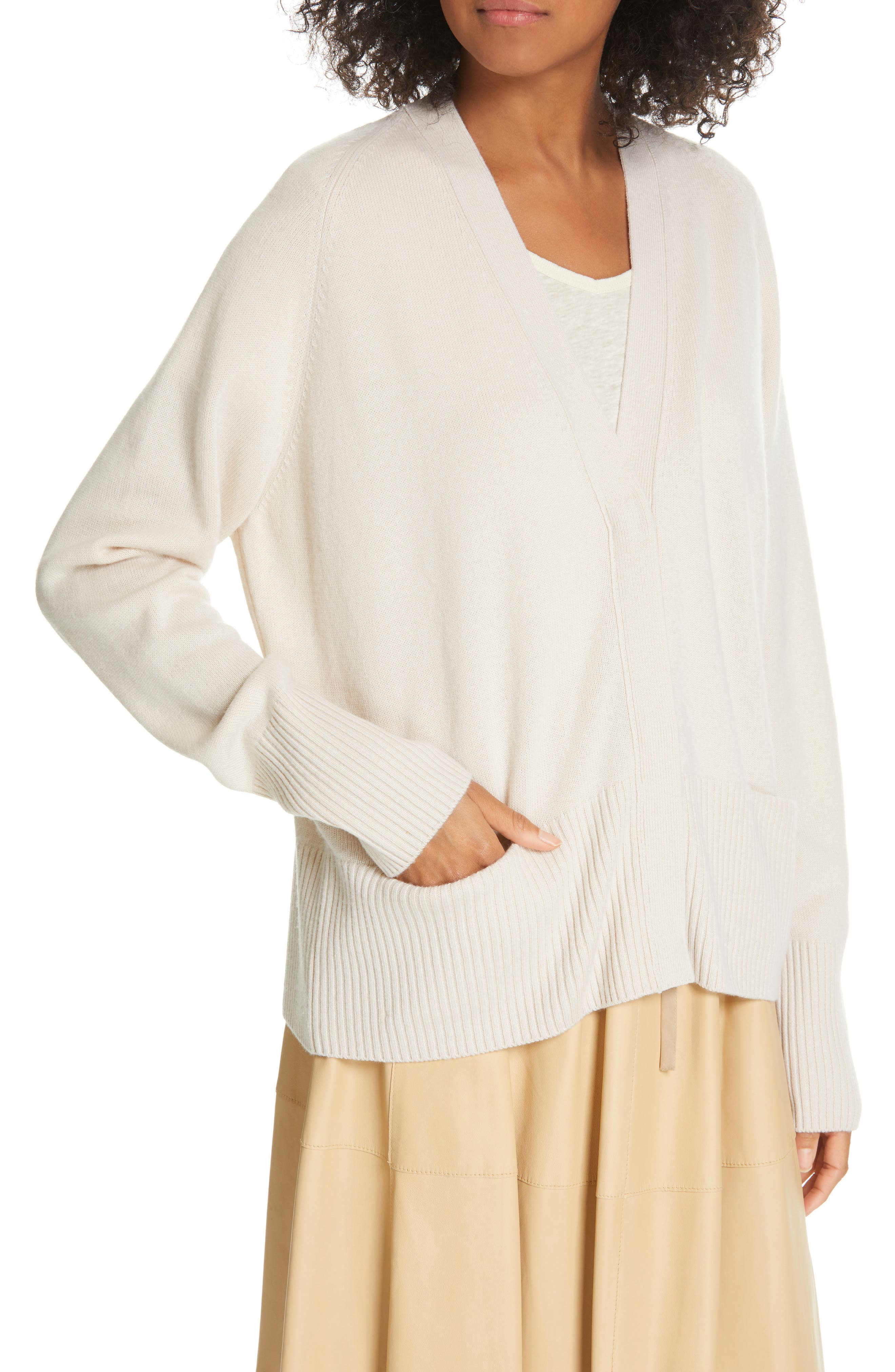 ,                             Raglan Sleeve Cardigan,                             Alternate thumbnail 4, color,                             SANDSTONE