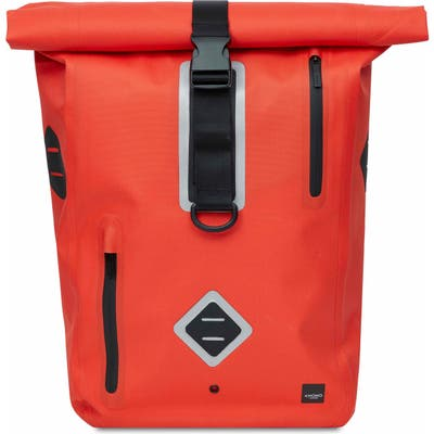 Knomo London Thames Water Resistant Roll-Top Commuter Backpack - Orange