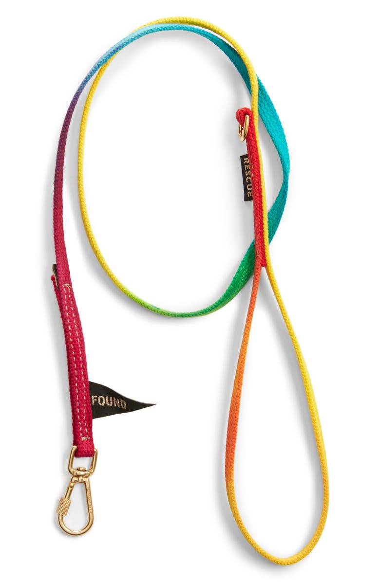FOUND MY ANIMAL Standard Woven Dog Leash, Main, color, PRISMATIC