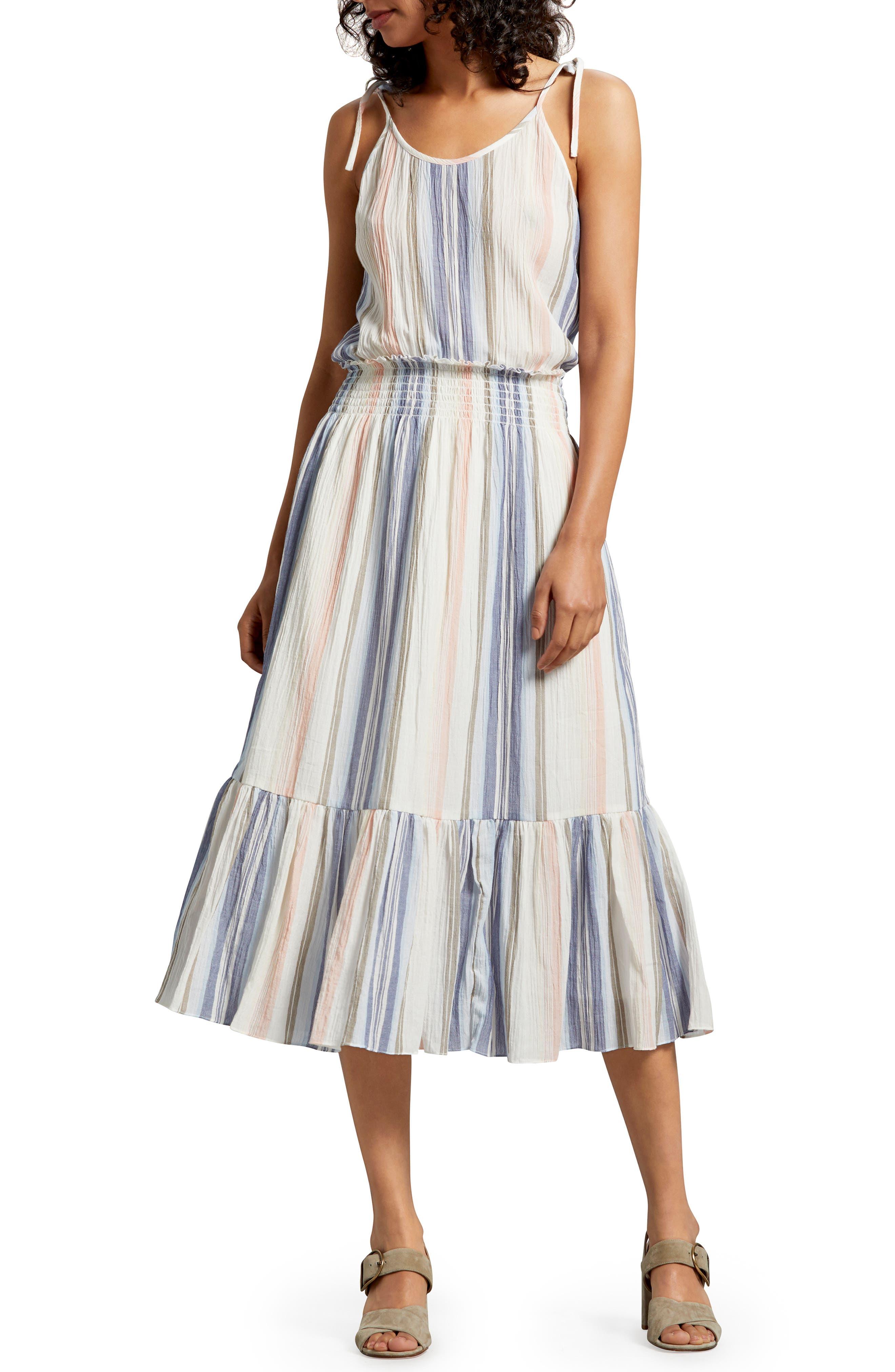 Michael Stars Sia Stripe Cotton Voile Sundress, Blue