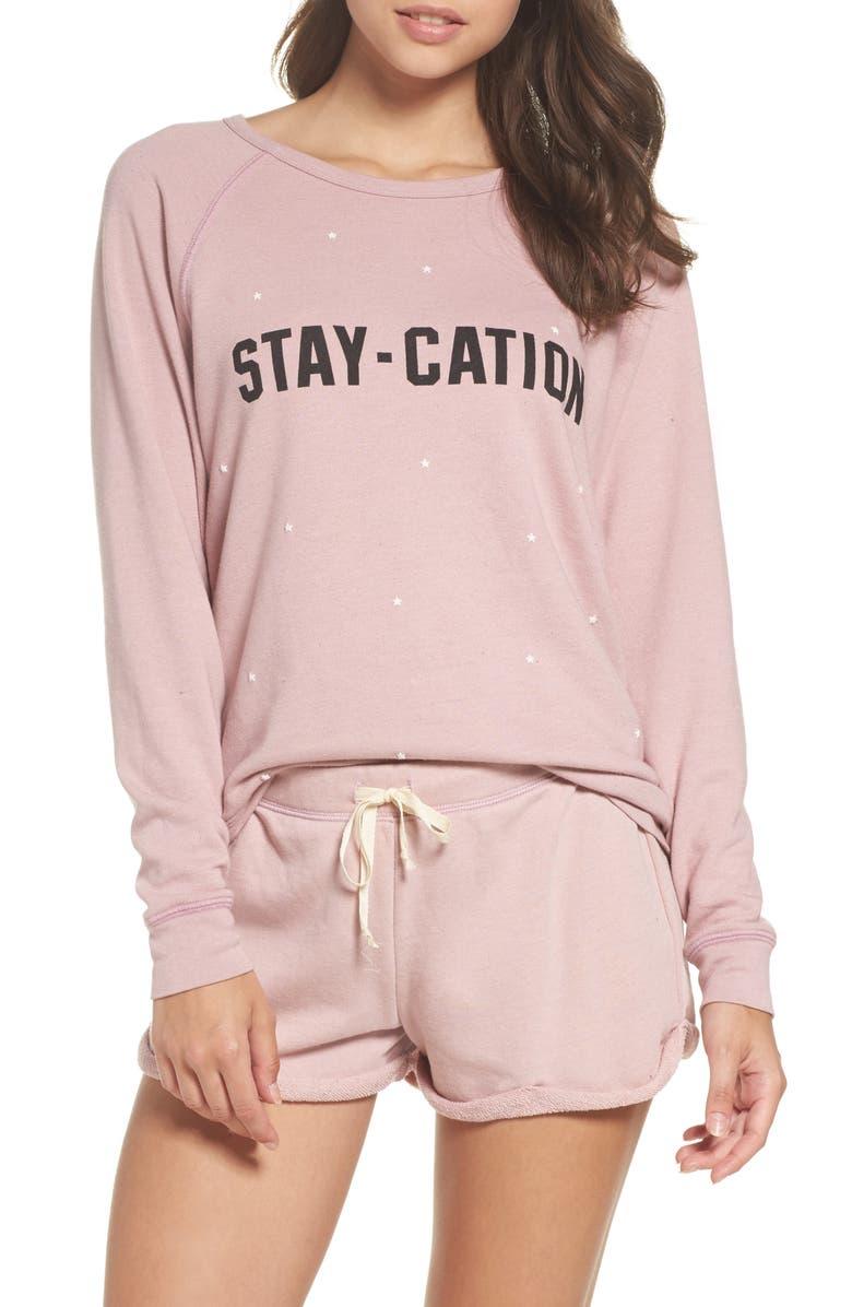 JUNK FOOD Stay-Cation Sweatshirt, Main, color, 650