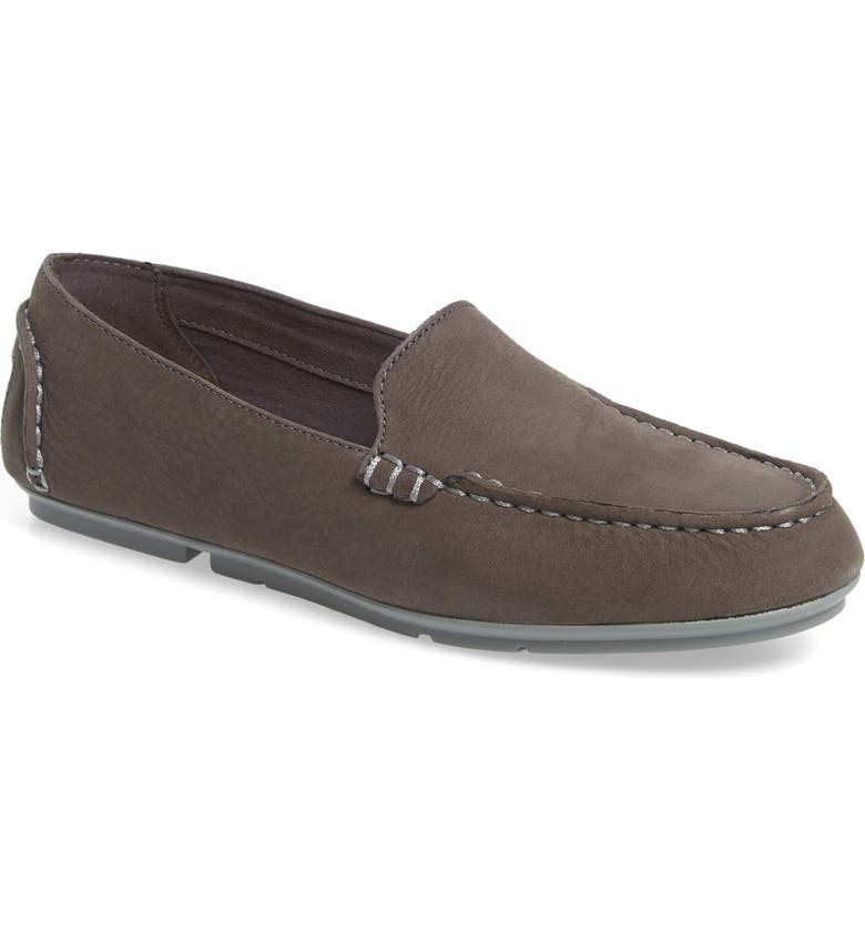 SPERRY Top Sider Bay View Loafer, Main, color, GREY NUBUCK LEATHER