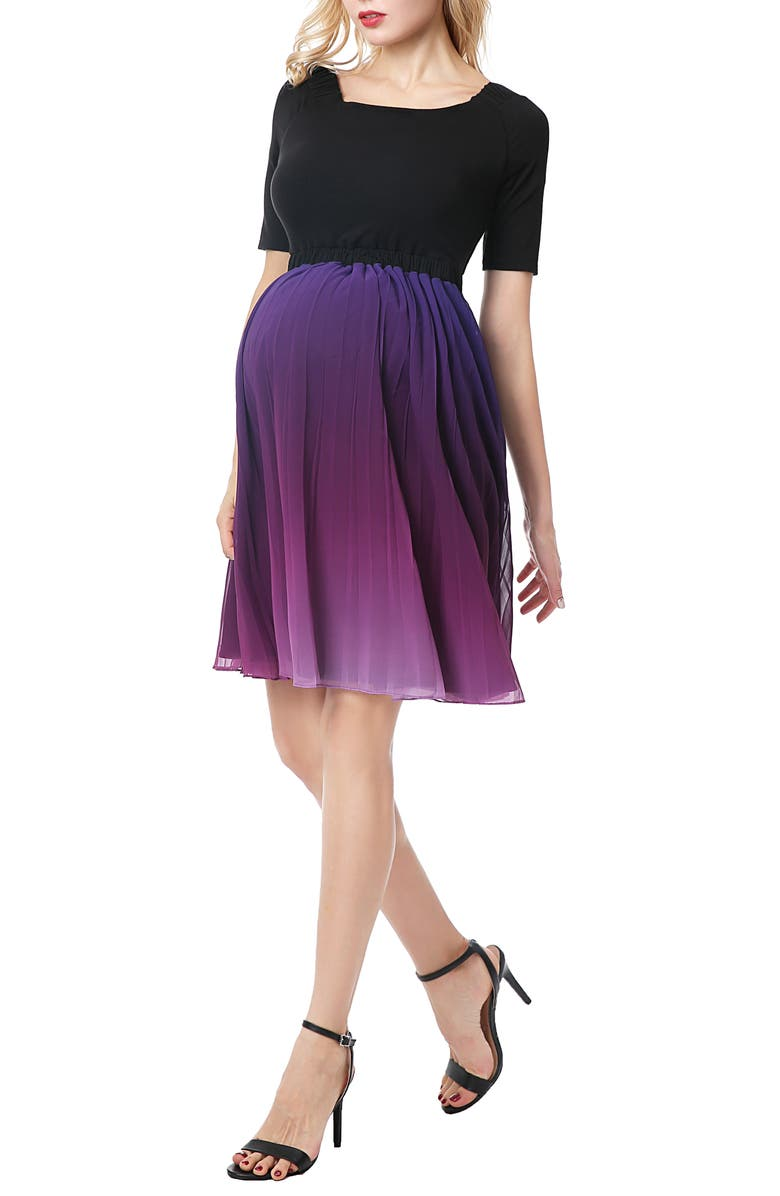 KIMI AND KAI Convertible Neck Maternity Cocktail Dress, Main, color, MULTICOLORED