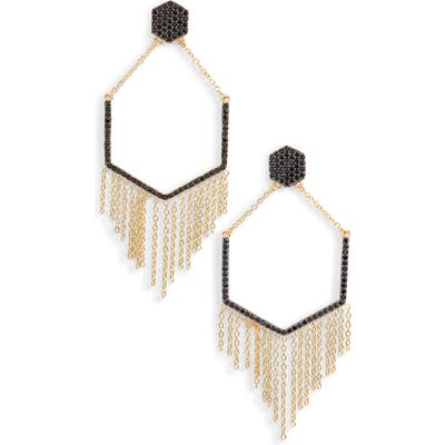 Sterling Forever Geo Daze Fringe Drop Earrings