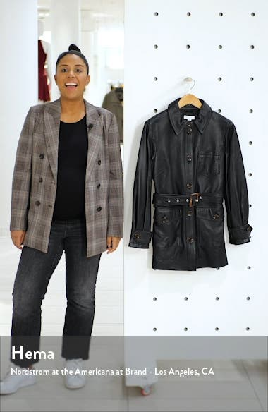 Casey Belted Leather Jacket, sales video thumbnail