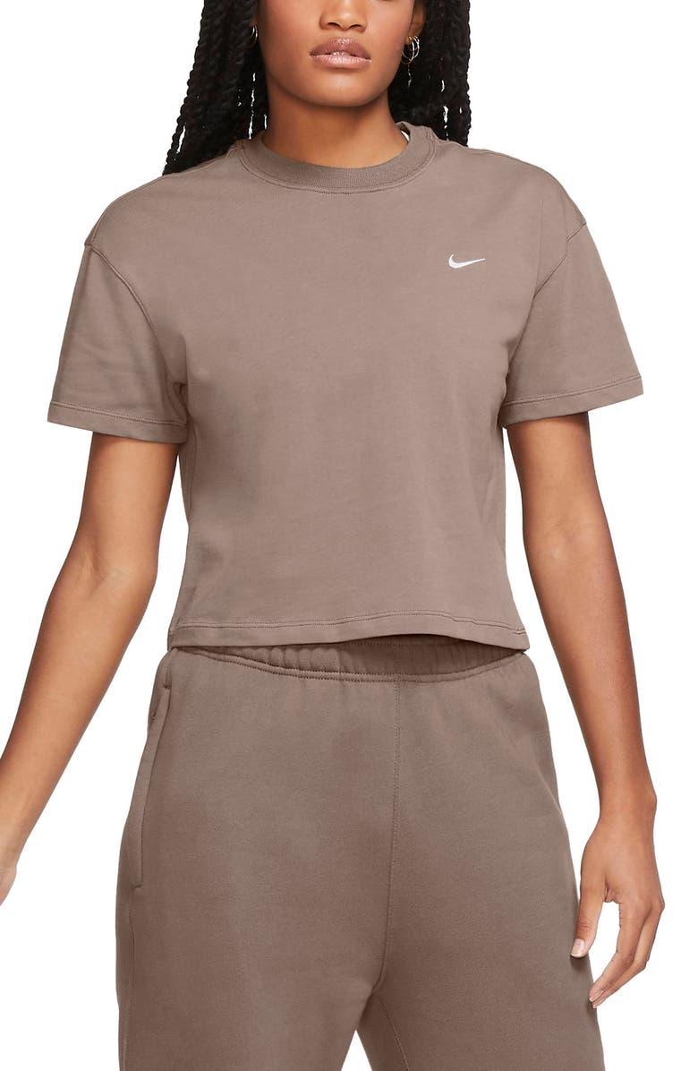 NIKE NikeLab NRG Crop Cotton T-Shirt, Main, color, OLIVE GREY