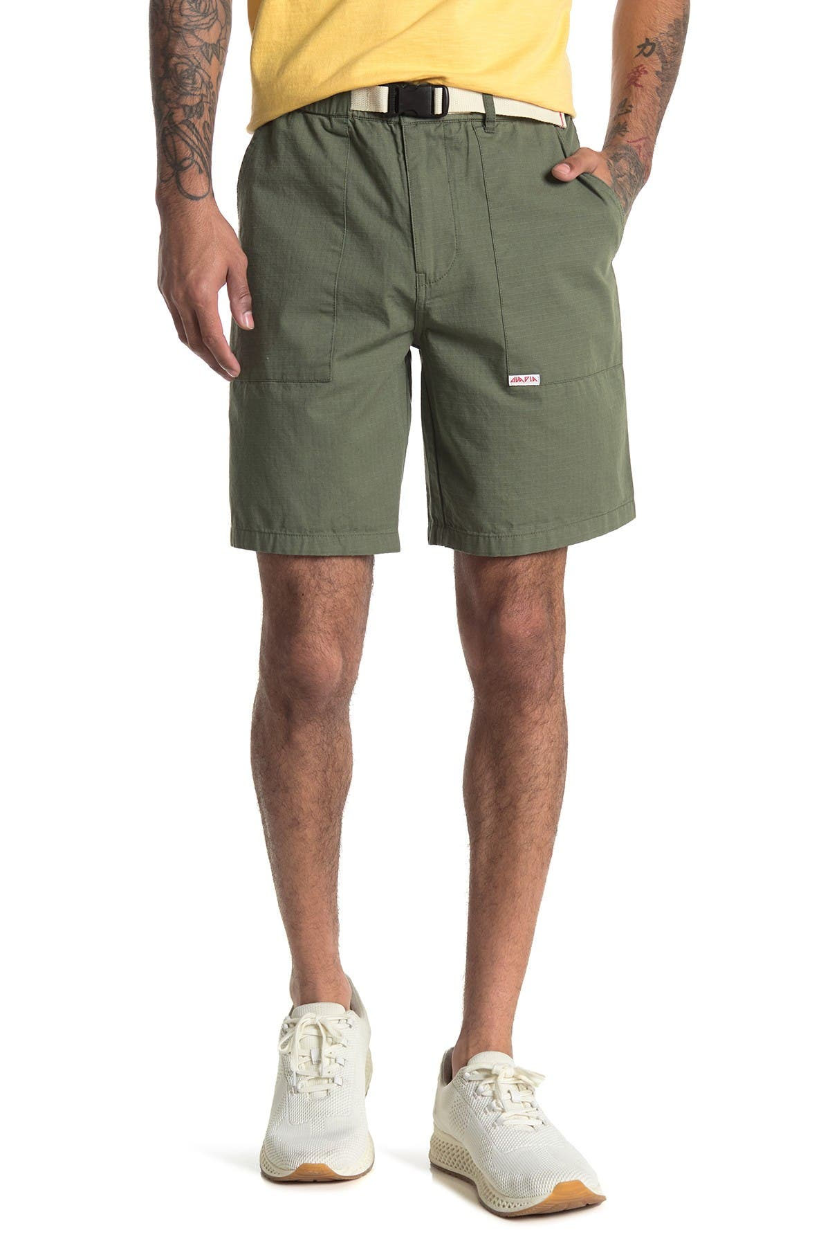 Image of OVADIA AND SONS Ripstop Belted Hiker Shorts
