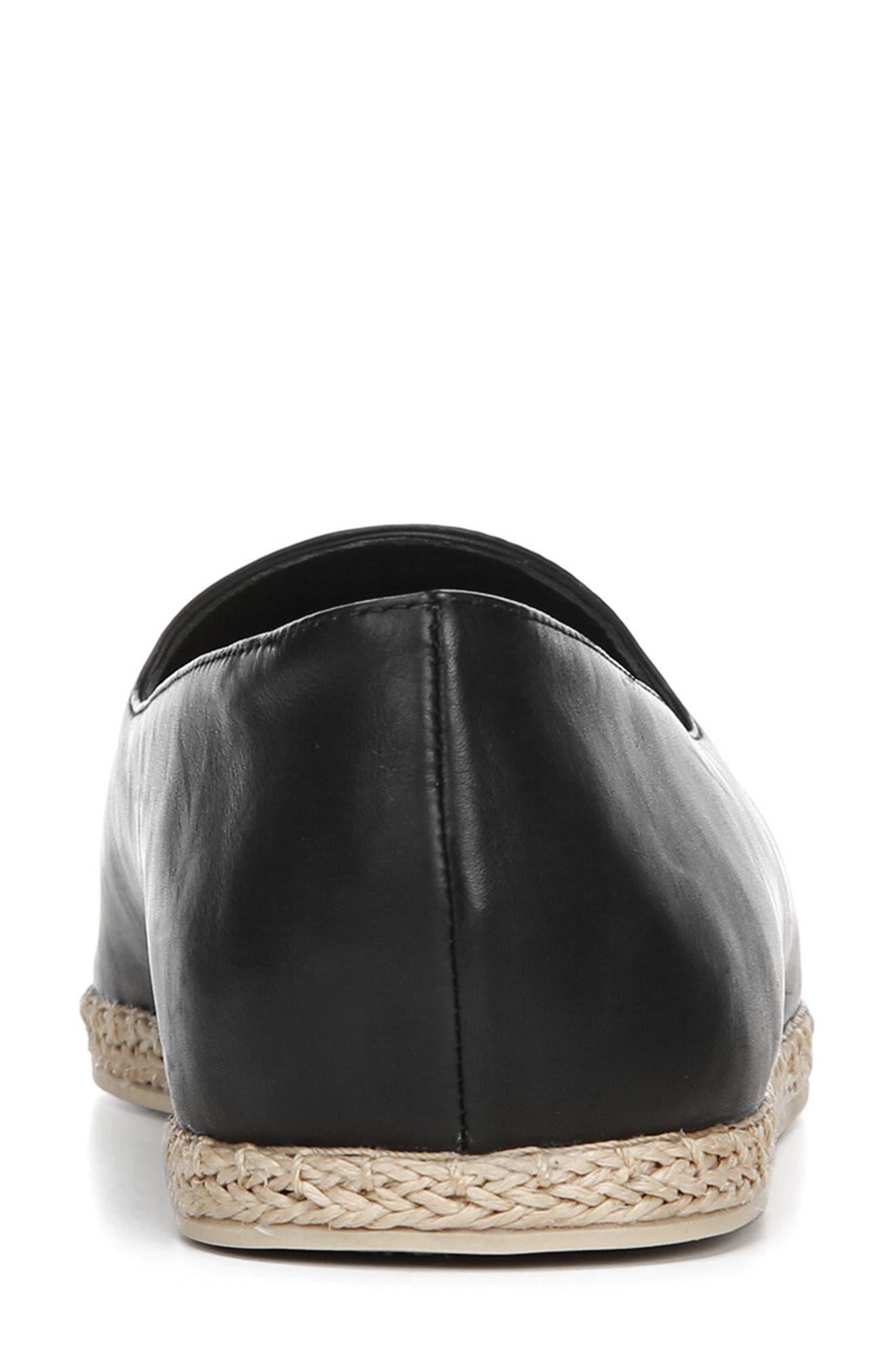 ,                             Malia Loafer Flat,                             Alternate thumbnail 7, color,                             BLACK LEATHER