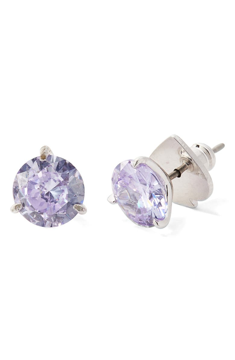KATE SPADE NEW YORK trio prong studs, Main, color, LIGHT AMETHYST