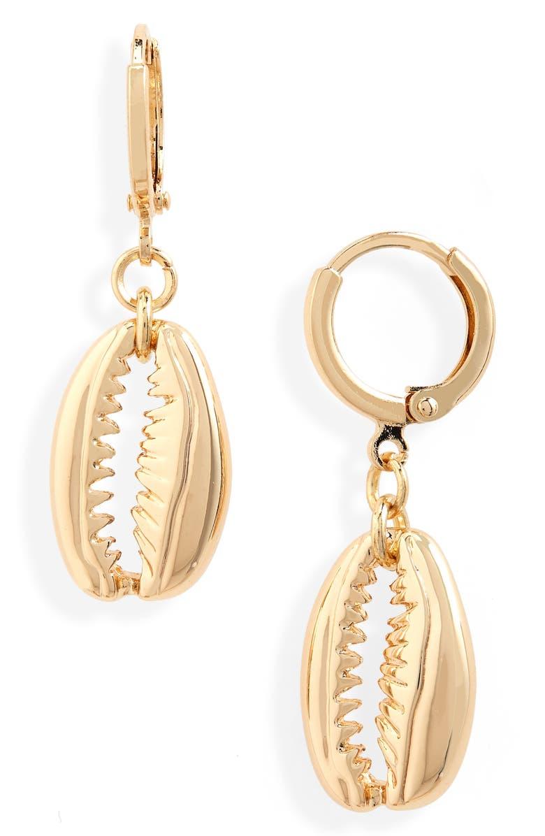 BP. Shell Charm Earrings, Main, color, 710