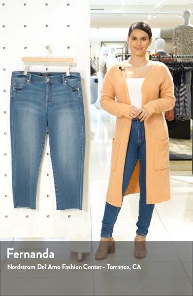 Fray Hem Crop Straight Leg Jeans, sales video thumbnail