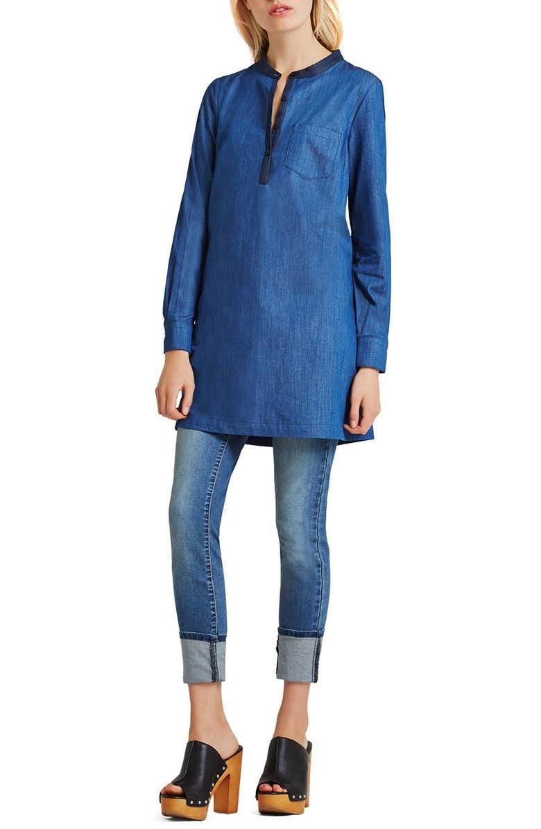 BCBGENERATION Denim Tunic Dress, Main, color, 400