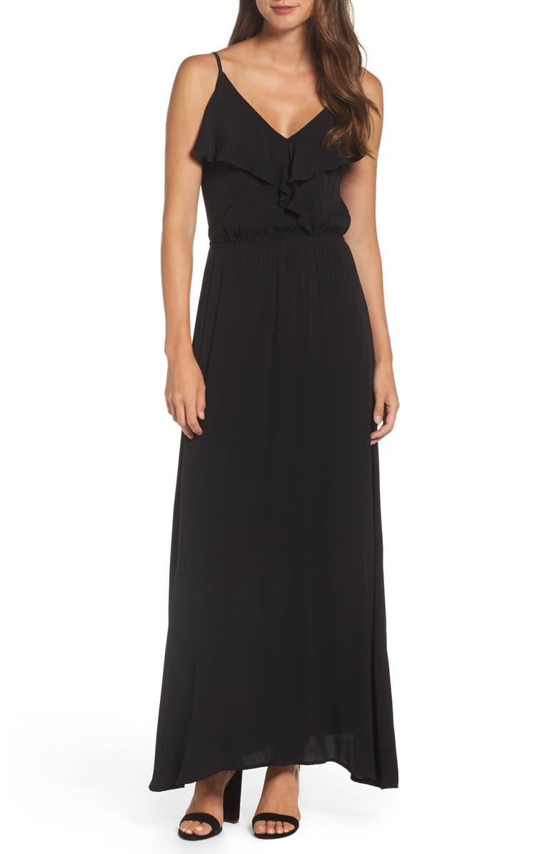 FRAICHE BY J Blouson Maxi Dress, Main, color, 002