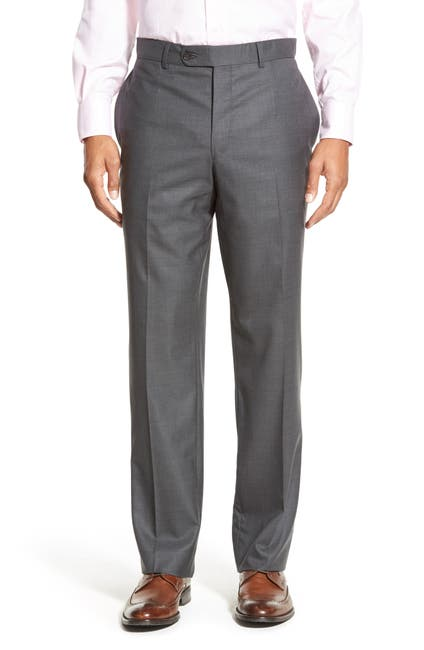 Image of David Donahue Ryan Classic Fit Solid Wool Suit